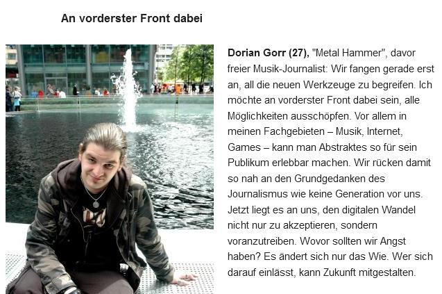 """Artikel: """"Wie junge Medienmacher heute arbeiten"""", DIE WELT, 23. Mai 2013"""
